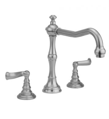 "Jaclo 9930-T667-TRIM-SN Roaring 20's 9"" Three Hole Deck Mounted Roman Tub Faucet With Finish: Satin Nickel And Handles: Ribbon Lever Handles"