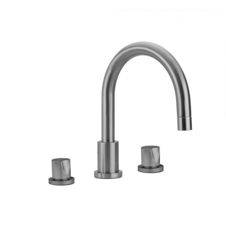 "Jaclo 9980-C-TRIM-PCH Contempo 8 3/8"" Three Hole Deck Mounted Roman Tub Faucet With Finish: Polished Chrome And Handles: Contempo Cross Handles"