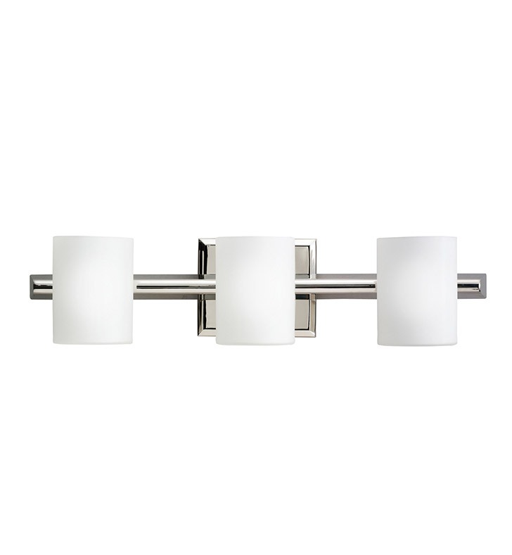 Kichler 5967PN Tubes Collection Bath 3 Light Halogen in Polished Nickel