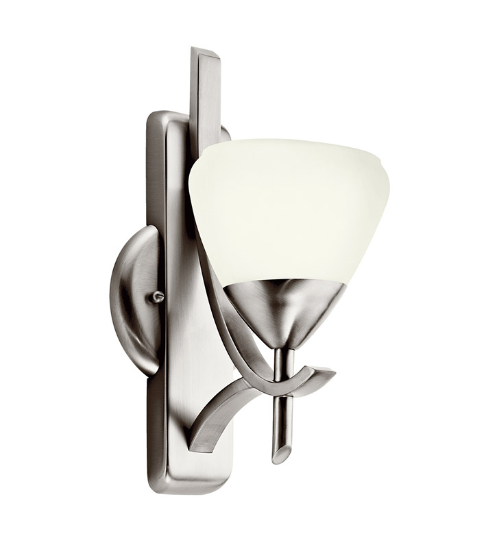 Kichler 10678AP Olympia Collection Wall Sconce 1 Light Fluorescent in Antique Pewter