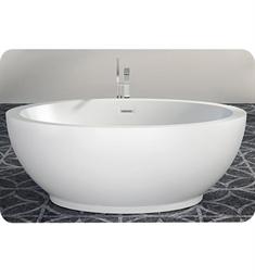 "BainUltra BOPPOF Opalia Ellipse 6839 68""x 39"" Freestanding Customizable Bath Tub"