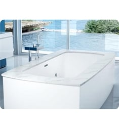 "BainUltra BMOXFD00 Monarch 7338C-Curved 4 Sides 73""x38"" Customizable Drop-In Bath Tub"