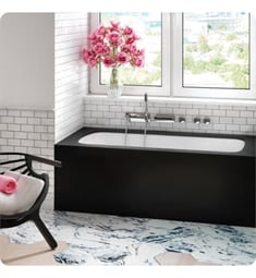 "BainUltra BMLCRB00 Monarch Grand Luxury Rectangle 6031 60"" x 31"" Customizable Drop-In Bath Tub"