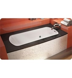 "BainUltra BMODHB0R Monarch 6032R-Curved 1 Side- Right 60""x32"" Customizable Drop-In Bath Tub"