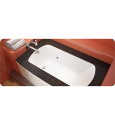 "BainUltra BMO7HB0L Monarch 6037L-Curved 1 Side-Left 60""x37"" Customizable Drop-In Bath Tub"