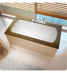 "BainUltra BMLDHB0L Monarch Grand Luxury 6032- Curved 1 Side-Left 60""x 32"" Customizable Drop-In Bath Tub"