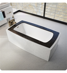 "BainUltra BML5FD00 Monarch Grand Luxury 6233C-Curved 4 Sides 62""x33"" Customizable Drop-In Bath Tub"