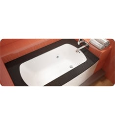 "BainUltra BML7HB0R Grand Luxury 6037R-Curved 1 Side-Right 60""x37"" Customizable Drop-In Bath Tub"