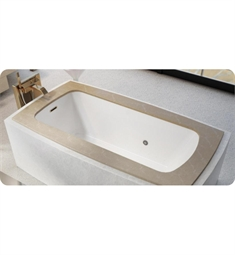 "BainUltra BML8FD00 Monarch Grand Luxury 6337C-Curved 4 Sides 63""x37"" Customizable Drop-In Bath Tub"
