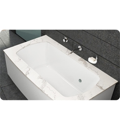 "BainUltra BMLTHB00 Monarch Grand Luxury 7238F-Curved 1 Side 72""x38"" Customizable Drop-In Bath Tub"