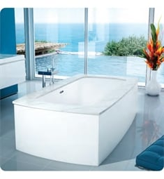 "BainUltra BMLXFD00 Monarch Grand Luxury 7338C-Curved 4 Sides 73""x38"" Customizable Drop-In Bath Tub"