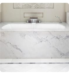 "BainUltra BMLURBOO Monarch Grand Luxury 7240 72""x40"" Customizable Drop-In Bath Tub"