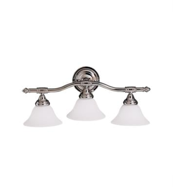 "Kichler 6483CH Broadview 3 Light 24"" Incandescent Wall Mount Bath Light in Chrome"