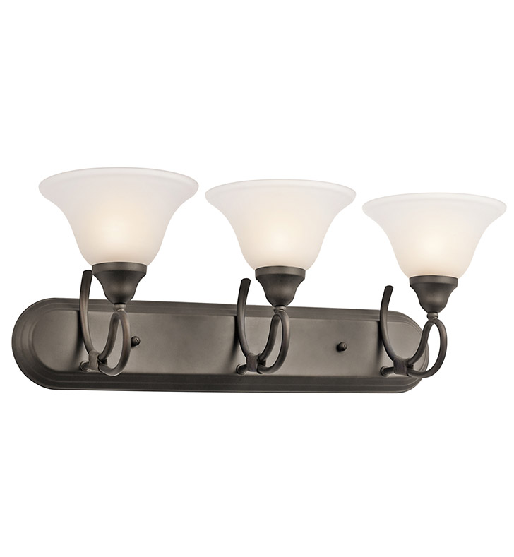 Kichler 5558OZ Stafford Collection Bath 3 Light in Olde Bronze