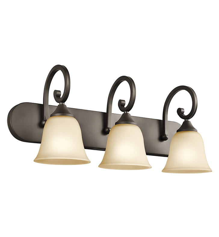 Kichler 45475OZ Feville Collection Bath 3 Light in Olde Bronze