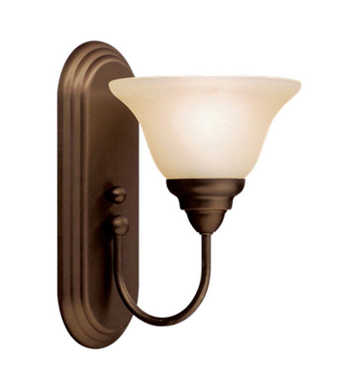 Kichler 10604OZ Telford Collection Wall Sconce 1 Light Fluorescent in Olde Bronze