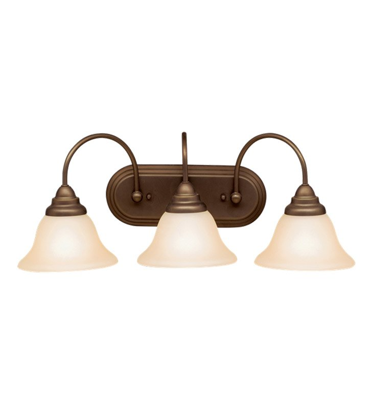 Kichler 10609OZ Telford Collection Bath 3 Light Fluorescent in Olde Bronze