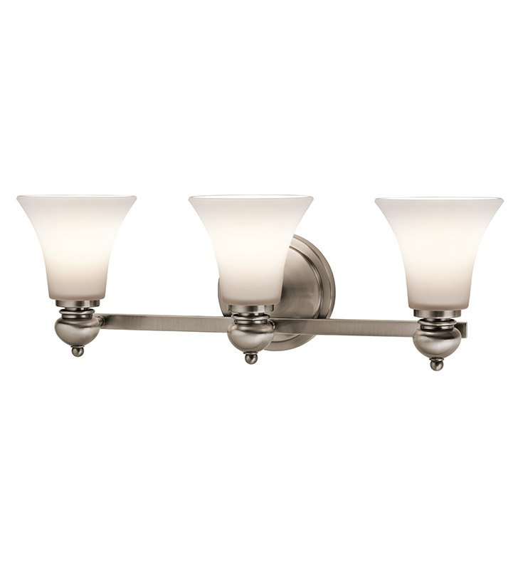 Kichler 45048CLP Bath 3 Light in Classic Pewter