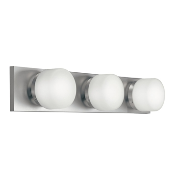 Kichler 10463NI Bath 3 Light Fluorescent in Brushed Nickel