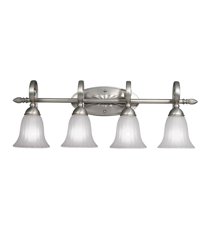Kichler 5929NI Willowmore Collection Bath 4 Light in Brushed Nickel