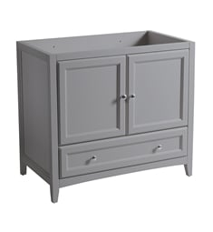"Fresca FCB2036GR Oxford 36"" Grey Traditional Bathroom Cabinet"
