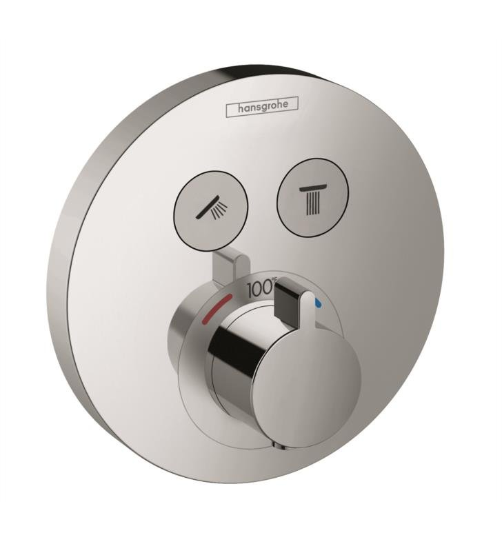 "Hansgrohe 15743001 5 7/8"" ShowerSelect Round Thermostatic Dual Function Trim With Finish: Chrome"