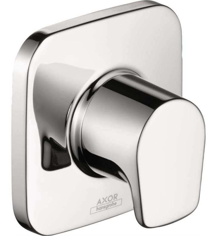 "Hansgrohe HG-19972001 Axor Bouroullec 3 7/8"" Volume Control Trim with Lever Handle in Chrome With Rough / Valve: Hansgrohe 15977181 3 1/2"" Rough-In Valve for Volume Control"