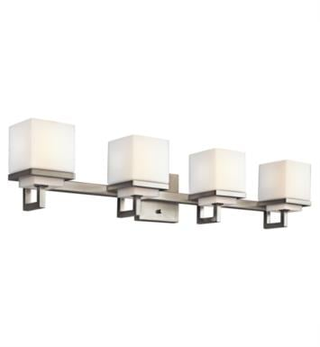 "Kichler 45140NI Metro Park 4 Light 30 3/4"" Incandescent Wall Mount Bath Light in Brushed Nickel"