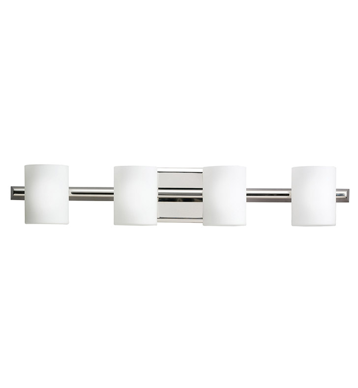 Kichler 5968PN Tubes Collection Bath 4 Light Halogen in Polished Nickel