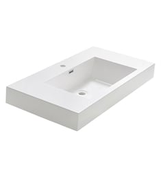 "Fresca FVS8005WH Valencia 40"" White Integrated Sink with Countertop"