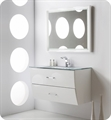 "Fresca Platinum FPVN7640WH Wave 40"" White Gloss Wall-Mount Modern Bathroom Vanity"
