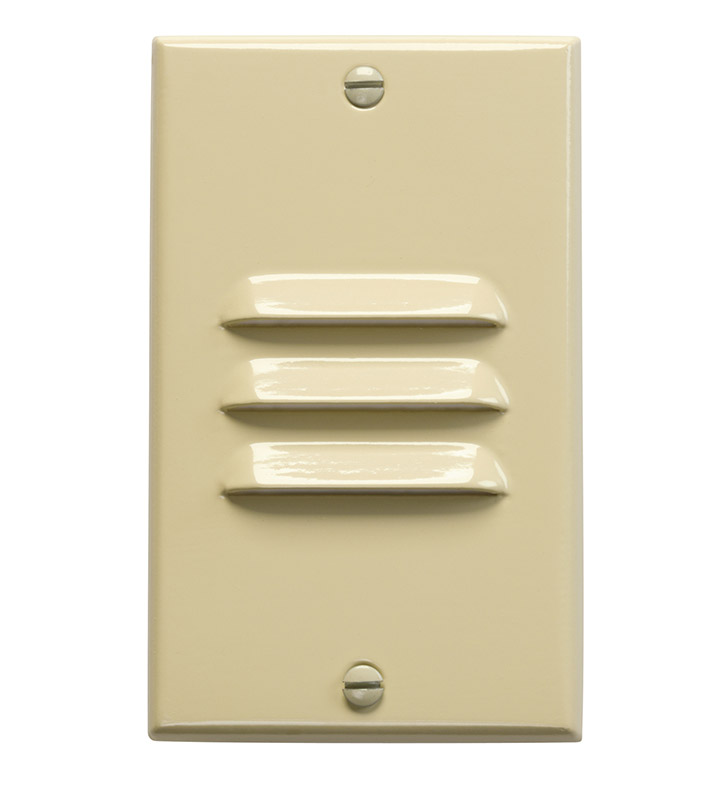 Kichler 12606IV LED Step Light Vertical Louver in Ivory