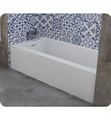 "Oceania PX6001 Plex 60"" Alcove Rectangular Bathtub with Flanges on 3 Sides"