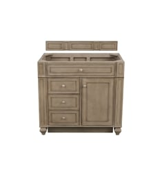 "... James Martin 157-V36-WW Bristol 36"" Single Bathroom Vanity with Backsplash in ..."