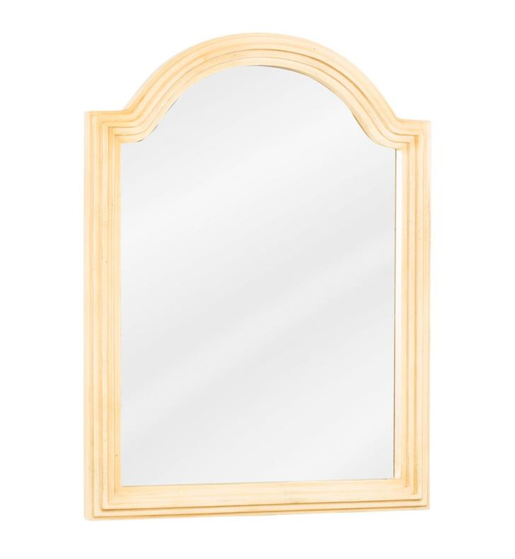 Hardware Resources Mir028d 60 Compton 22 Framed Wall Mount Arched Rectangular Bathroom Mirror With Finish Beige