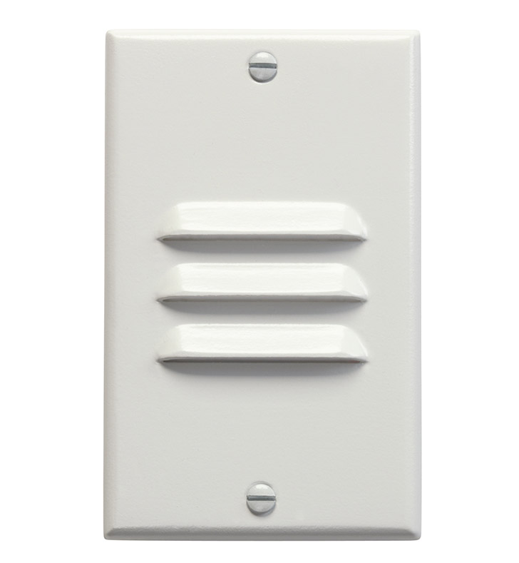 Kichler 12656WH LED Step Light Vertical Louver in White