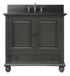 "Avanity THOMPSON-V36-CL Thompson 36"" Free Standing Single Bathroom Vanity in Charcoal Glaze Finish"