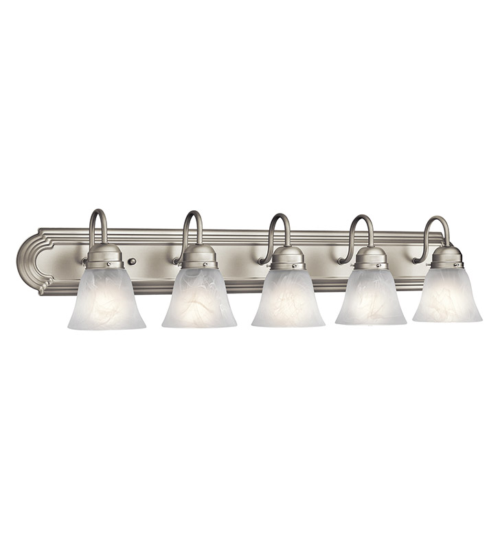 Kichler 5339NI Bath 5 Light in Brushed Nickel