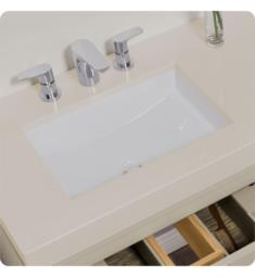 "Ronbow E022212-WH 19 1/8"" Single Bowl Recess Rectangular Undermount Bathroom Sink in White"