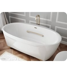 "BainUltra BSCVOF00 Scala Oval 7242 72"" x 42"" Customizable Freestanding Bath Tub"