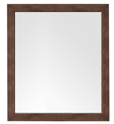 "James Martin 388-M48-CFO Columbia 48"" Wall Mount Framed Rectangular Mirror in Coffee Oak"