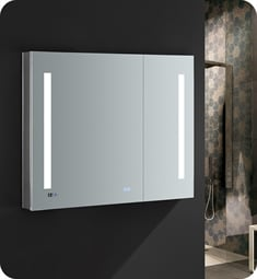 "Fresca FMC013630 Tiempo 36"" Wide x 30"" Tall Bathroom Medicine Cabinet with LED Lighting"