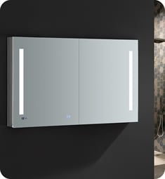 "Fresca FMC014830 Tiempo 48"" Wide x 30"" Tall Bathroom Medicine Cabinet with LED Lighting"