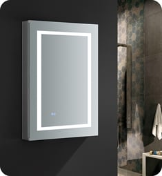"Fresca FMC022436 Spazio 24"" Wide x 36"" Tall Bathroom Medicine Cabinet with LED Lighting"