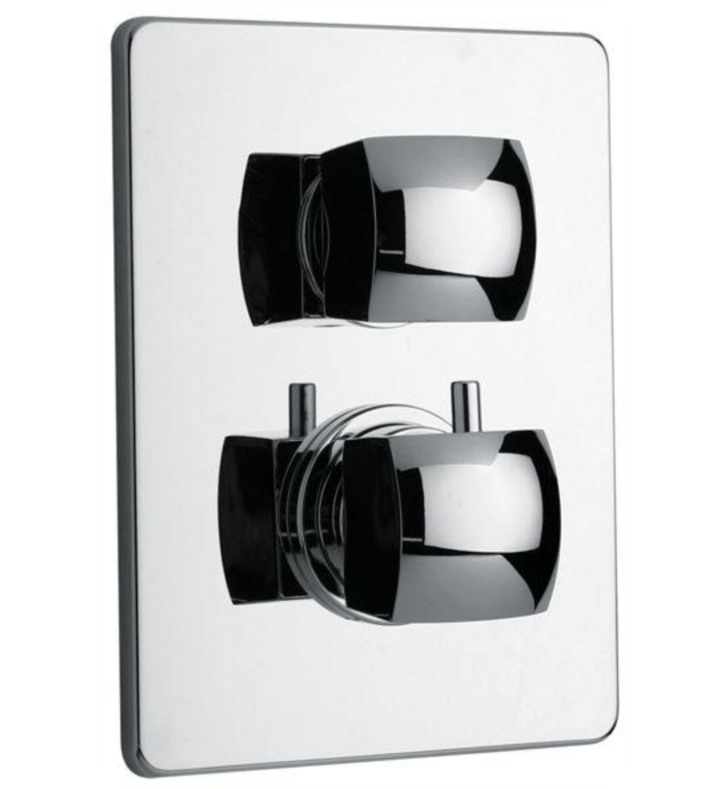 LaToscana 89PW691 Lady Thermostatic Shower Valve with 2 Way Diverter Volume Control in Brushed Nickel