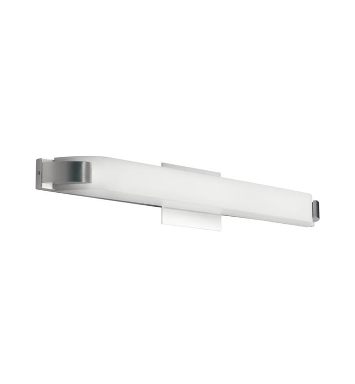 "Kichler 10414NI Nobu 1 Light 27 1/4"" Fluorescent Linear Bath Light in Brushed Nickel"